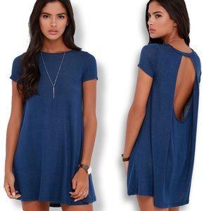"Lulu's • Blue ""Made You Look"" Swing Dress"